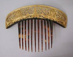 antique hair combs the closet historian hair comb history highlight 10 golden combs