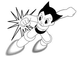 flying astro boy printable cartoon coloring pages cartoon