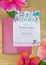 hawaiian party invitations free printable invites pinterest