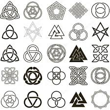 set of symbols icons vector tattoo design set u2014 stock vector