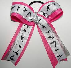 ribbon for hair that says gymnastics 72 best gymnastics bows images on pinterest gymnastics