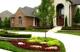 Backyard  Home Design Landscaping Ideas For Front House Beautiful - Italian backyard design