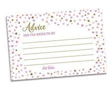Advice Cards For The Bride Bridal Shower Advice Cards Ebay
