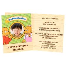 the berenstain bears personalized invitations 8