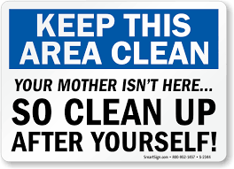 kitchen signs keep kitchen clean signs kitchen courtesy signs