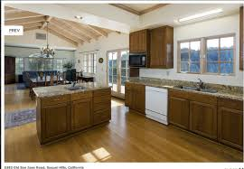 Open Kitchen Floor Plan Open Floor Plan Kitchen Dining Living Traditional San Francisco