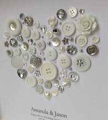 silver wedding gifts personalised silver anniversary gift 25th by buttonartbysophie