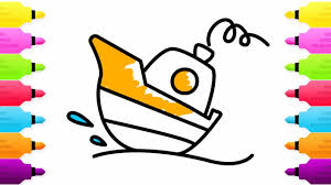baby ship coloring pages and drawing summer coloring pages for