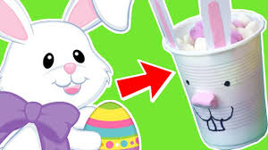 how to make an easter bunny cup easter holiday arts and crafts