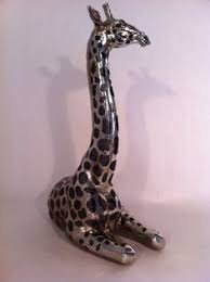 beautiful iron 7 ft metal giraffe statue for home or garden