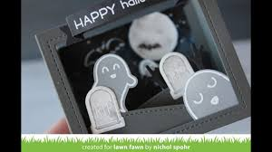 happy halloween with no background lawn fawn happy halloween shadow box card youtube
