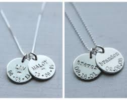 personalized sterling silver necklace personalized sted jewelry by unmistakablymine on etsy