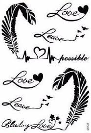 evie script script quotes feather with birds temporary tattoos