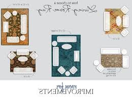 Dining Room Rugs Size Correct Rug Size For Living Room Militariart Com