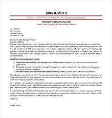sample sales cover letter marketing sales manager cover letter