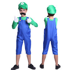 mario and luigi halloween costumes party city new kids super mario costume teen boys clothes fancy dress party