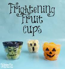 halloween frightening fruit cups kitchen fun with my 3 sons
