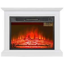 akdy 31 in freestanding electric fireplace heater in white with