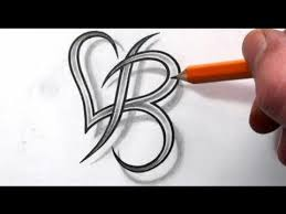letter b heart tattoo pictures to pin on pinterest tattooskid