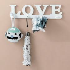 aliexpress com buy white love coat hat key holder 4 hooks
