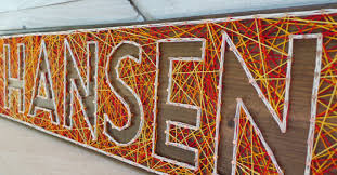 pattern art name 6 letter string art wooden name tablet made to order
