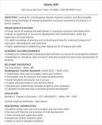 Kindergarten Teacher Resume Example by Lead Teacher Resume Jobs Billybullock Us