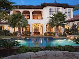 modern mediterranean tuscan style homes with pool home small