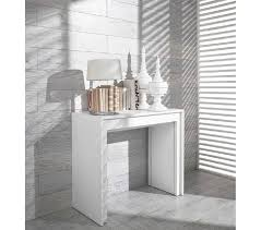 ultra modern dining table dreamfurniture com morph modern ultra compact extendable white