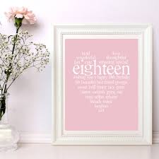 personalised 18th birthday print by ciliegia designs