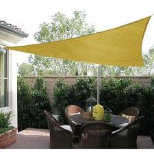 outsunny 100110 030sa 16 5 u0027 triangle outdoor patio sun shade sail