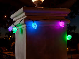 10 count color changing skull halloween string lights 11 5 ft