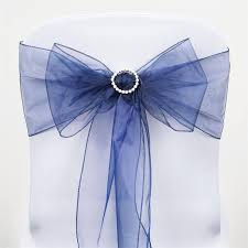 organza sashes 5 pcs wholesale navy blue sheer organza chair sashes tie bows