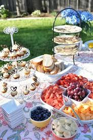 kitchen tea food ideas best 25 outdoor bridal showers ideas on bridal