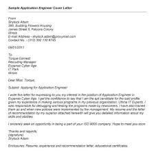 cover letter job application format cover letter examples