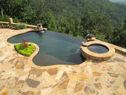 infinity swimming pool ideas with stones floors backyard excerpt