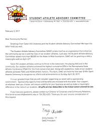 Thank You Letter For Supporting Our Business by Fundraiser By Emily Hutsko Seton Hill Griffin Sports Awards