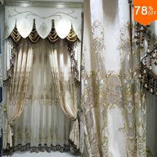 Luxury Grey Curtains Most New Italy Luxury Curtain Living Rooms Apricot Embroidery Bead