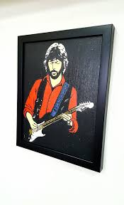 eric clapton retro framed wall art giclee canvas paint painting