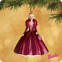 barbies celebration hallmark ornaments