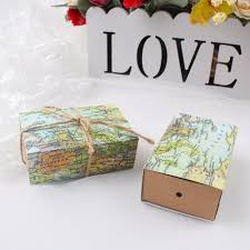 Map Favors by 10pcs Wedding Favors Box Gift Box With World Map Theme