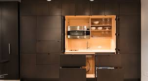 J K Kitchen Cabinets Clever Stealth Kitchen Hiding Away Unneeded Components Video