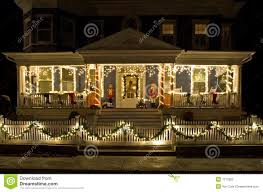 christmas lights on the porch stock photography image 1713902