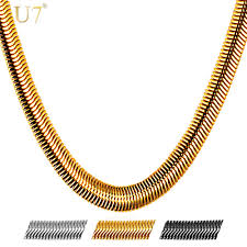 steel necklace wholesale images U7 snake chain hip hop jewelry for men necklace wholesale gold jpg