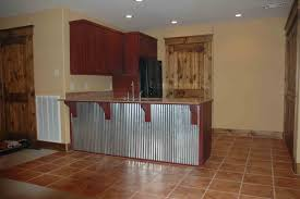 Kitchens With Bars And Islands Corrugated Tin Kitchen Cabinets This Bar Back Is Corrugated
