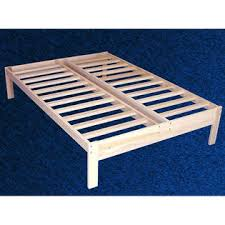 greenhome123 unfinished solid wood platform bed frame in size twin