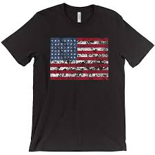 American Flag Design Distress American Flag T Shirt Horizontal Design U2013 Country Styles
