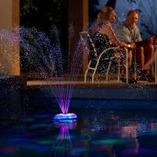 Floating Pool Light Aquaglow Dancing Waters Light And Fountain Show The Green Head