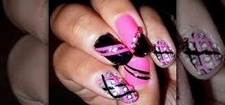 Nail Art Design Black How To Create A Pink And Black Nail Art Design Nails