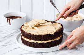 chocolate sweet potato layer cake with molasses buttercream love