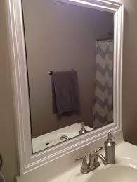Framed Bathroom Mirrors Brushed Nickel Bathroom Mirror 118 Cool Ideas For Mirrors White